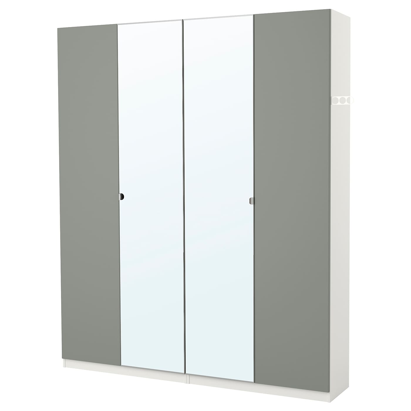 pax wardrobe white reinsvoll vikedal 200 x 38 x 236 cm ikea. Black Bedroom Furniture Sets. Home Design Ideas