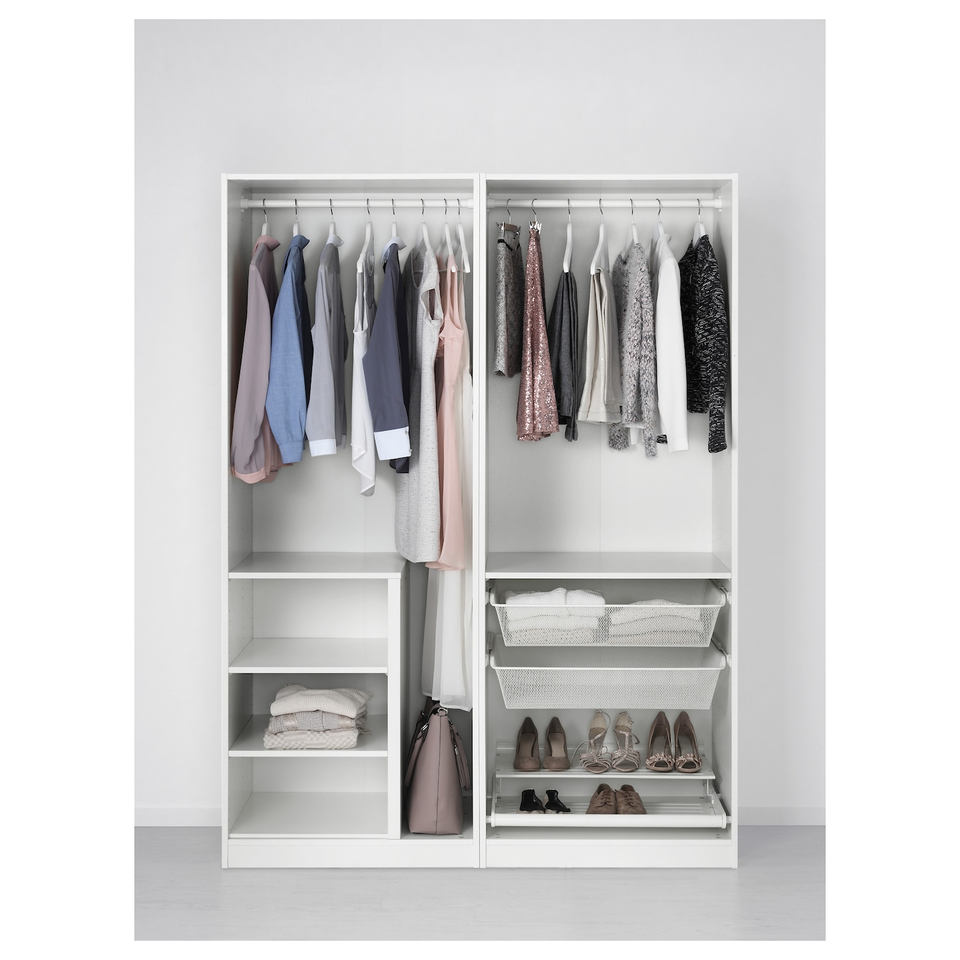 pax wardrobe white sekken frosted glass 150 x 66 x 201 cm. Black Bedroom Furniture Sets. Home Design Ideas