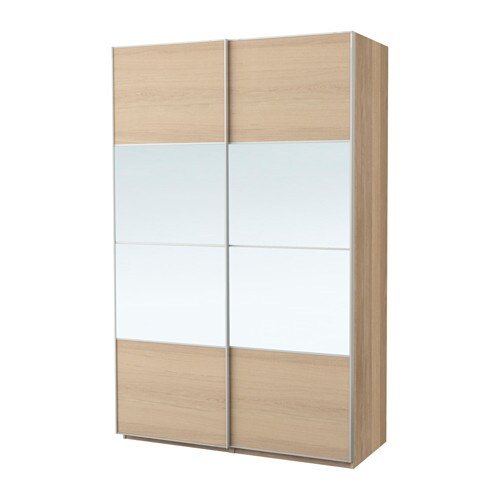 pax wardrobe white stained oak effect auli ilseng 150x66x201 cm ikea. Black Bedroom Furniture Sets. Home Design Ideas