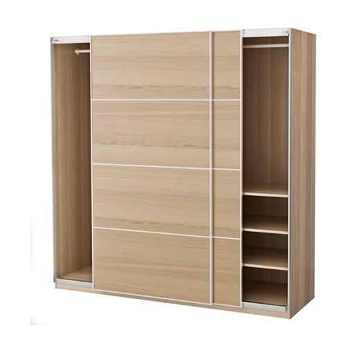 pax wardrobe white stained oak effect ilseng white stained oak veneer 200 x 66 x 201 cm ikea. Black Bedroom Furniture Sets. Home Design Ideas