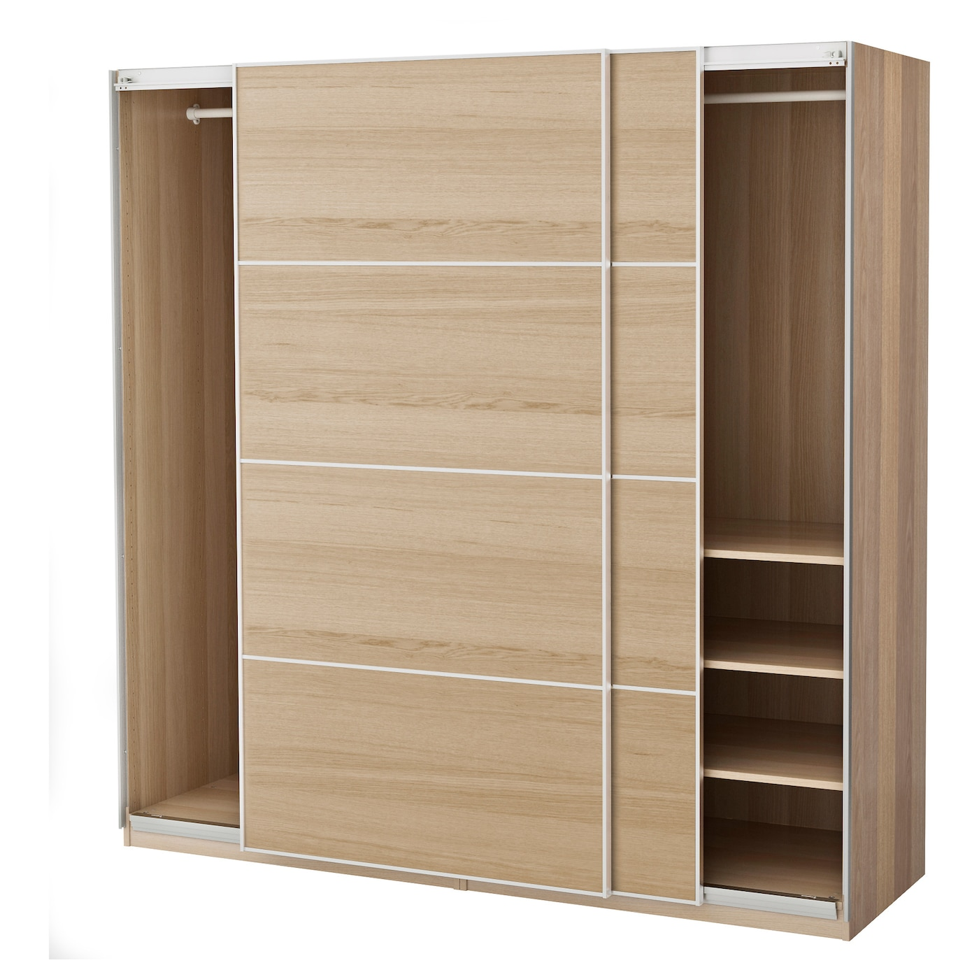 pax wardrobe white stained oak effect ilseng white stained oak veneer 200 x 66 x 201 cm ikea. Black Bedroom Furniture Sets. Home Design Ideas