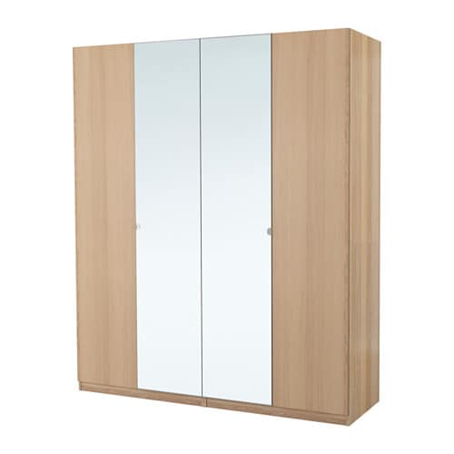 pax wardrobe white stained oak effect nexus vikedal. Black Bedroom Furniture Sets. Home Design Ideas