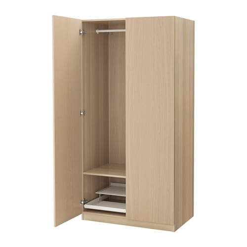 Pax Wardrobe White Stained Oak Effect Nexus White Stained