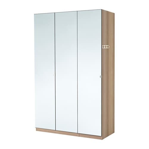 pax wardrobe white stained oak effect vikedal 150x60x201 cm ikea. Black Bedroom Furniture Sets. Home Design Ideas