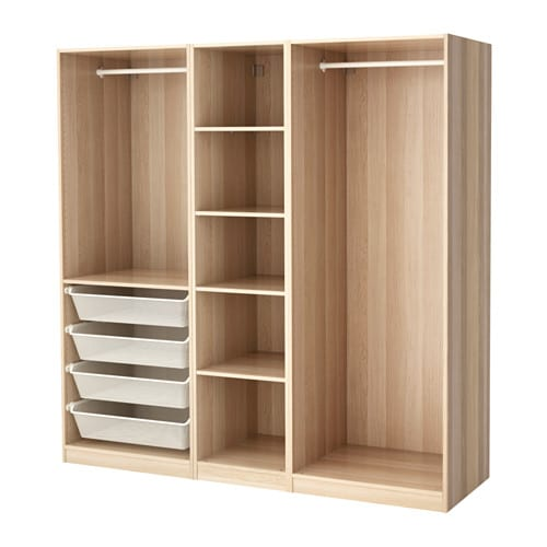 pax wardrobe white stained oak effect 200x58x201 cm ikea. Black Bedroom Furniture Sets. Home Design Ideas
