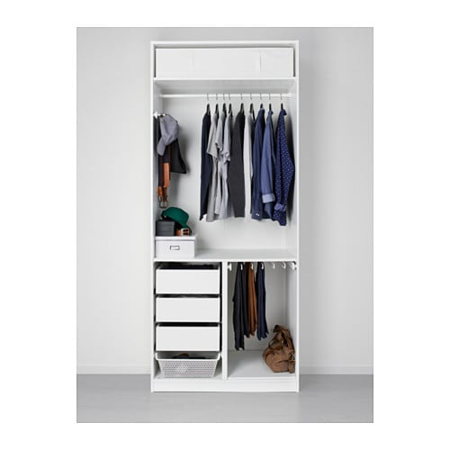 pax wardrobe white tanem black 100x60x236 cm ikea. Black Bedroom Furniture Sets. Home Design Ideas