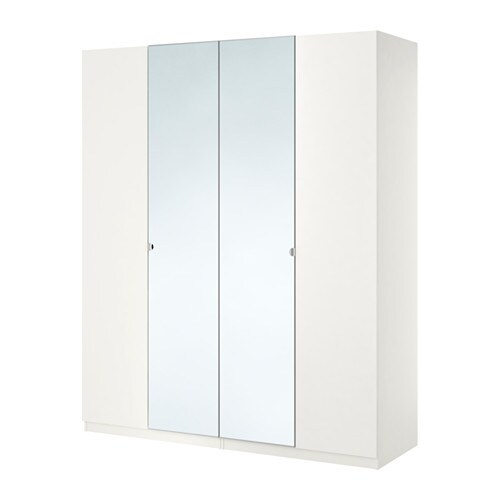 pax wardrobe white tanem vikedal 200x60x201 cm ikea. Black Bedroom Furniture Sets. Home Design Ideas