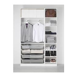 pax wardrobe white tanem vikedal 150x38x236 cm ikea. Black Bedroom Furniture Sets. Home Design Ideas