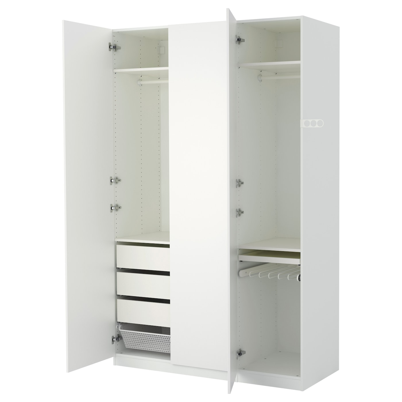 pax wardrobe white tanem white 150x60x236 cm ikea. Black Bedroom Furniture Sets. Home Design Ideas