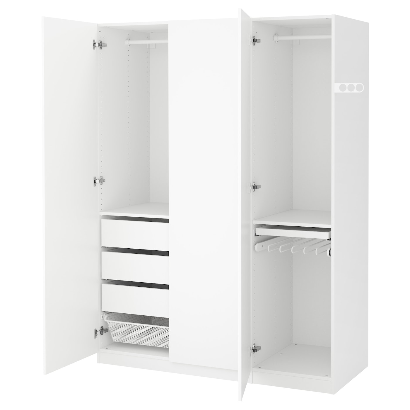 pax wardrobe white tanem white 150x60x201 cm ikea. Black Bedroom Furniture Sets. Home Design Ideas