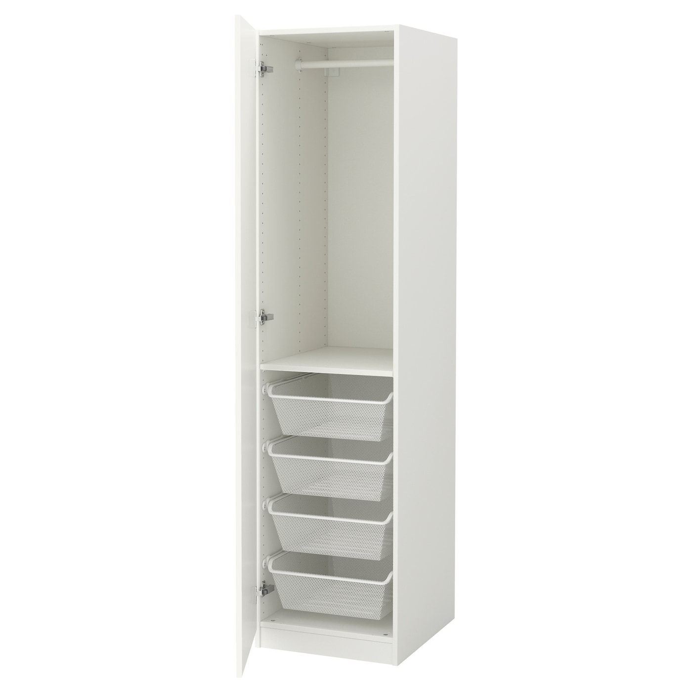pax wardrobe white tanem white 50x60x201 cm ikea. Black Bedroom Furniture Sets. Home Design Ideas