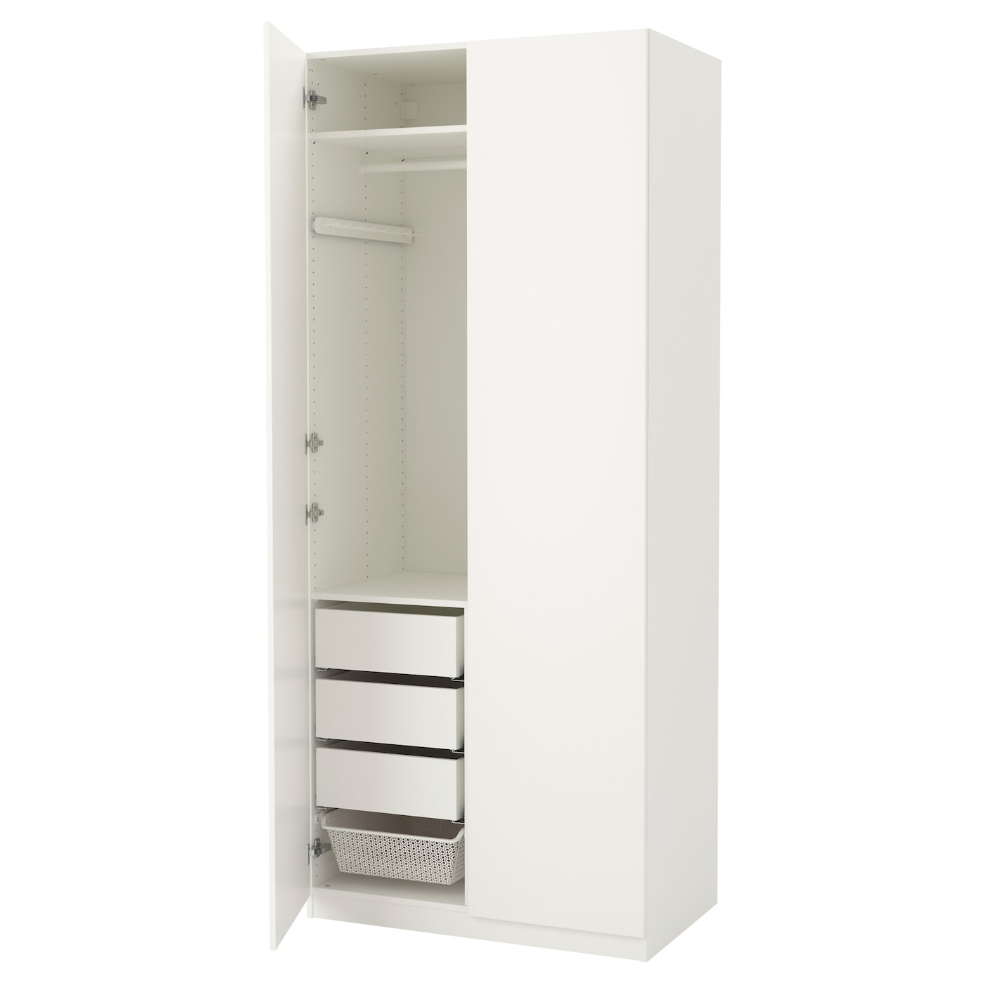 pax wardrobe white tanem white 100x60x236 cm ikea. Black Bedroom Furniture Sets. Home Design Ideas