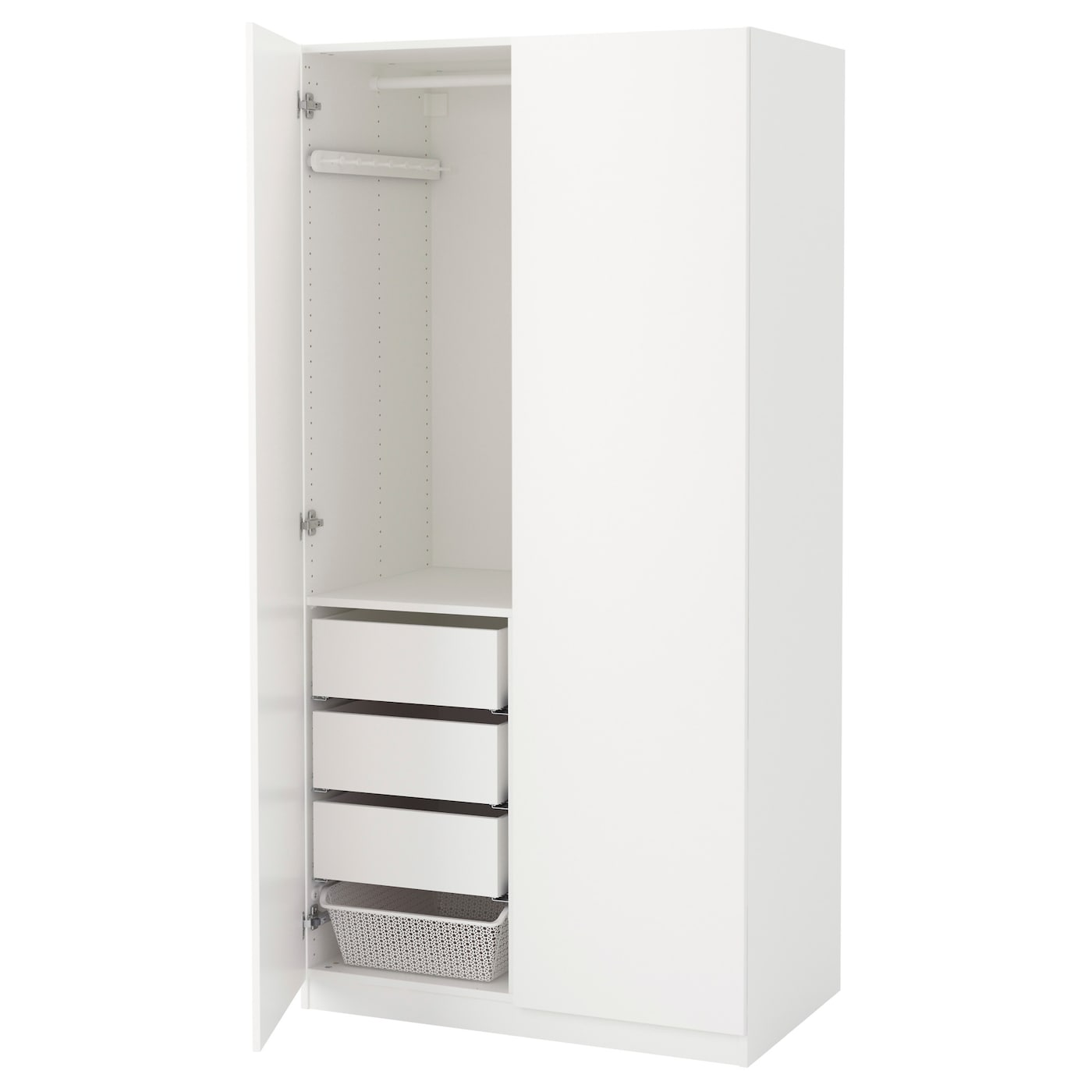 pax wardrobe white tanem white 100x60x201 cm ikea. Black Bedroom Furniture Sets. Home Design Ideas