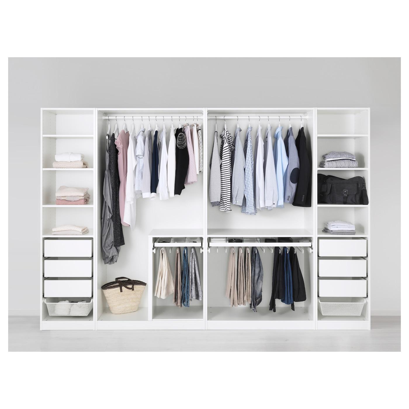 PAX Wardrobe White tyssedal tyssedal glass 300x60x201 cm IKEA