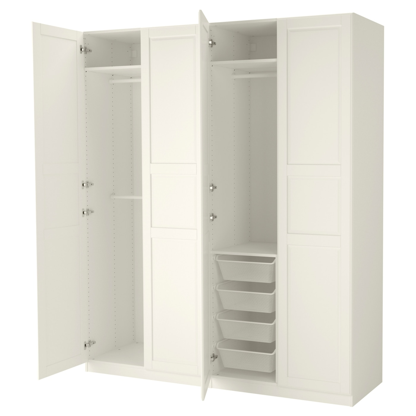 pax wardrobe white tyssedal white 200x60x236 cm ikea. Black Bedroom Furniture Sets. Home Design Ideas