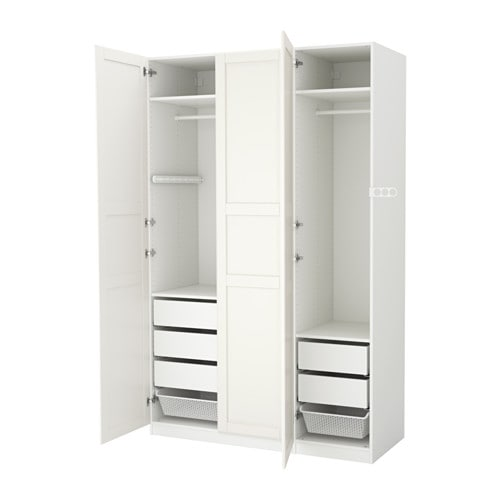 pax wardrobe white tyssedal white 150x60x236 cm ikea. Black Bedroom Furniture Sets. Home Design Ideas