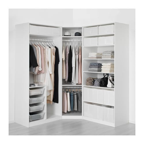 pax wardrobe white tyssedal white 196 196x60x236 cm ikea. Black Bedroom Furniture Sets. Home Design Ideas