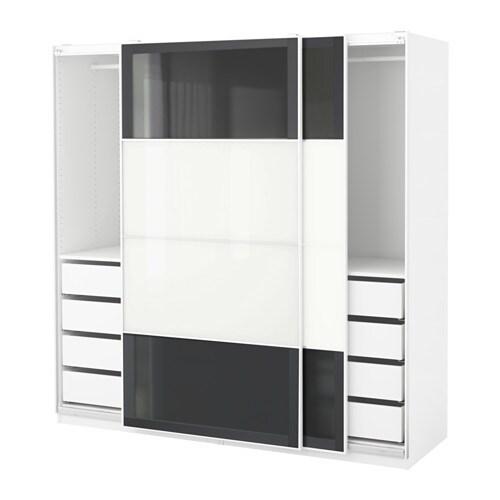 PAX Wardrobe Whiteuggdal Frvik 200x66x201 Cm IKEA
