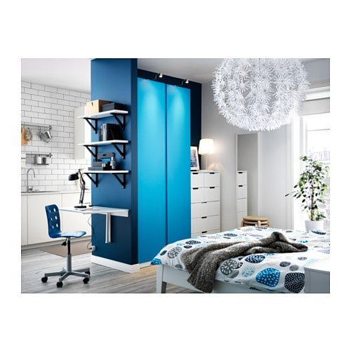 pax wardrobe white vikanes blue 100x60x236 cm ikea. Black Bedroom Furniture Sets. Home Design Ideas