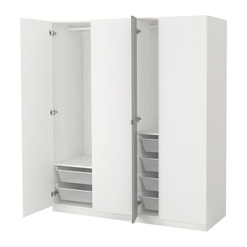 pax wardrobe white vikanes vikedal 175x60x201 cm ikea. Black Bedroom Furniture Sets. Home Design Ideas