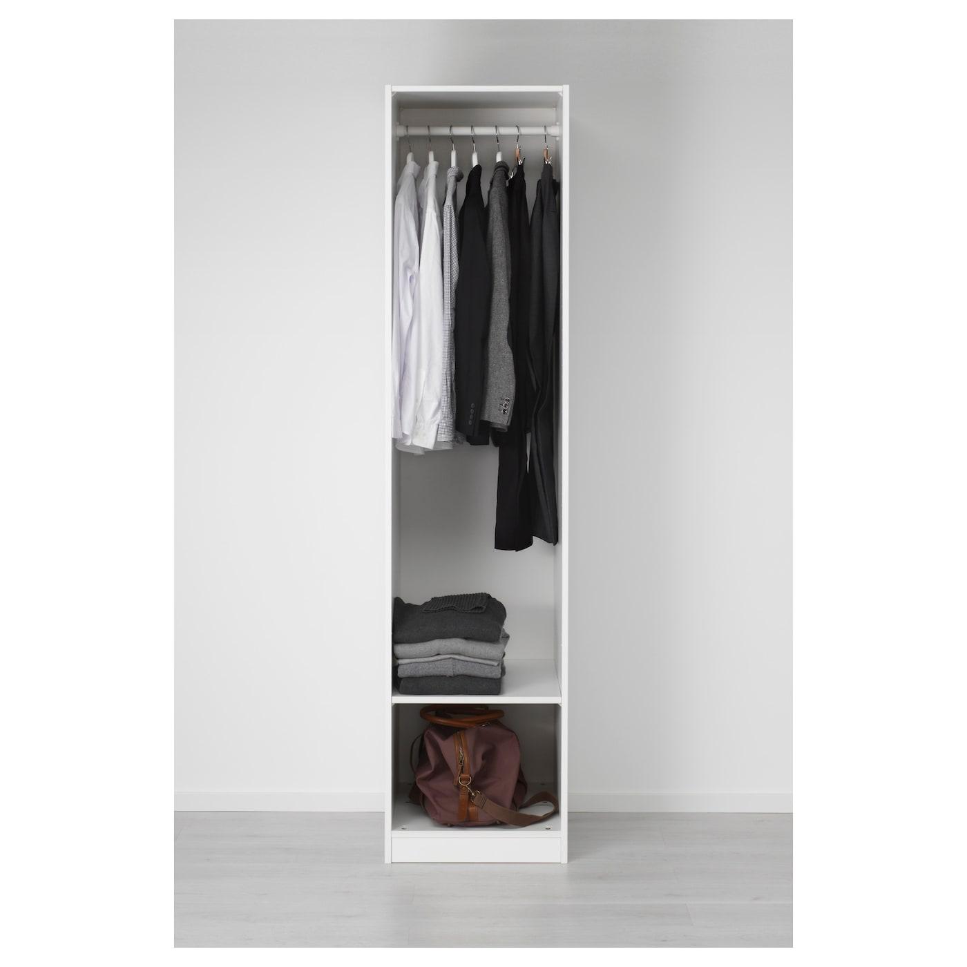 Pax wardrobe white vikedal mirror glass 50x60x201 cm ikea for Ikea wardrobe