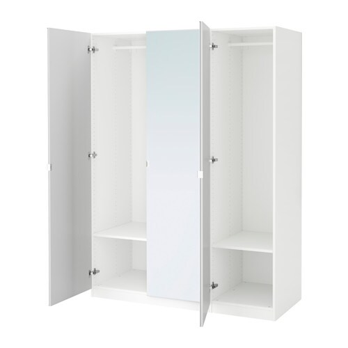 Pax wardrobe white vikedal mirror glass 150 x 60 x 201 cm ikea - Ikea armoire with mirror ...