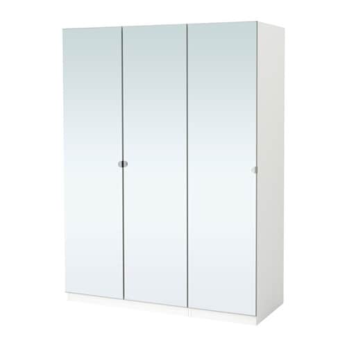 Pax wardrobe white vikedal mirror glass 150x60x201 cm ikea - Ikea armoire with mirror ...