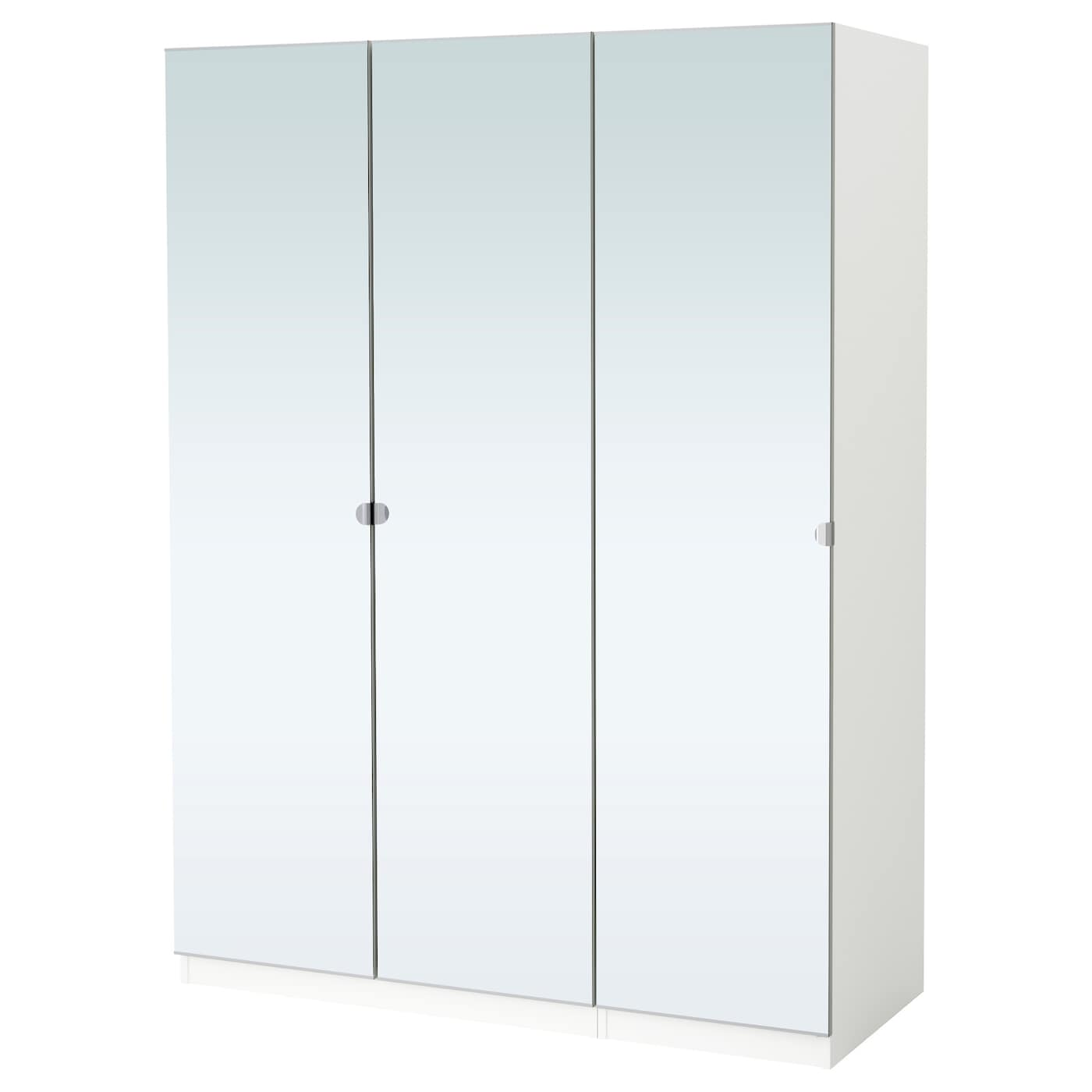 pax wardrobe white vikedal mirror glass 150 x 60 x 201 cm. Black Bedroom Furniture Sets. Home Design Ideas