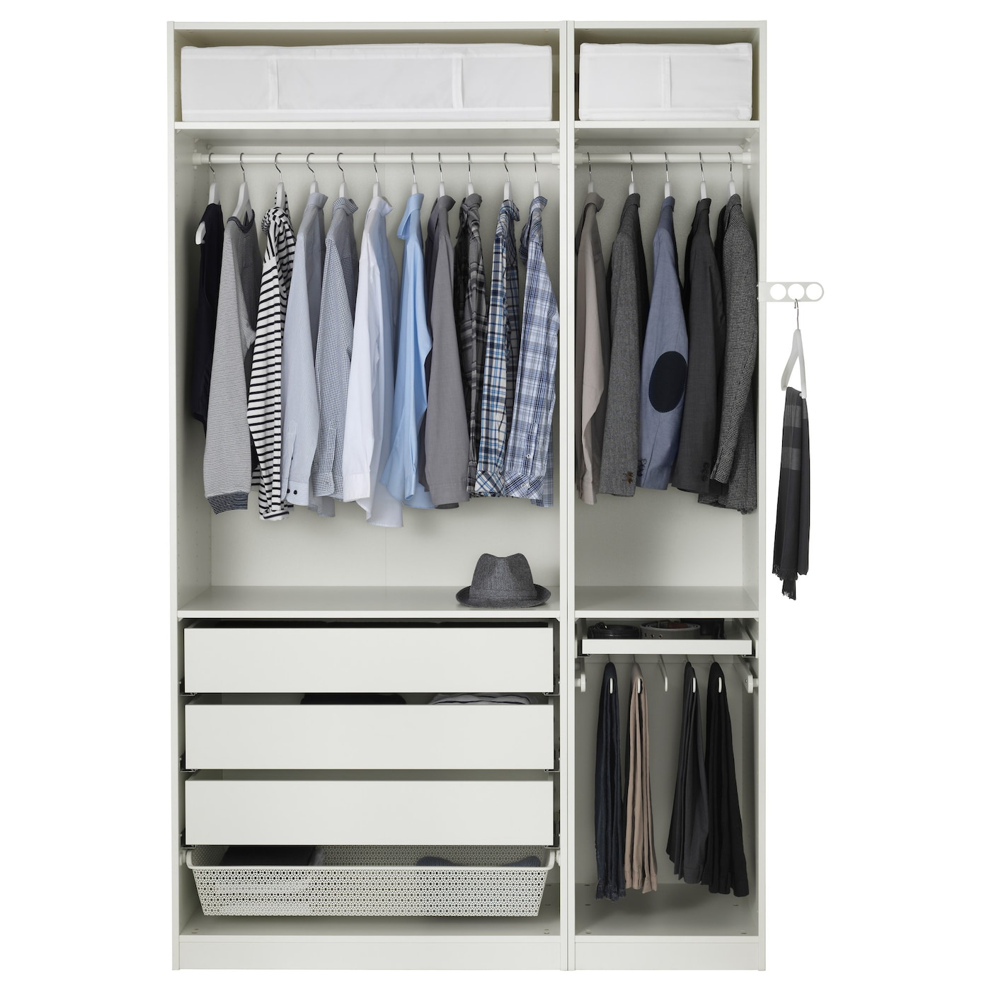 pax wardrobe white vinterbro white 150x60x236 cm ikea. Black Bedroom Furniture Sets. Home Design Ideas