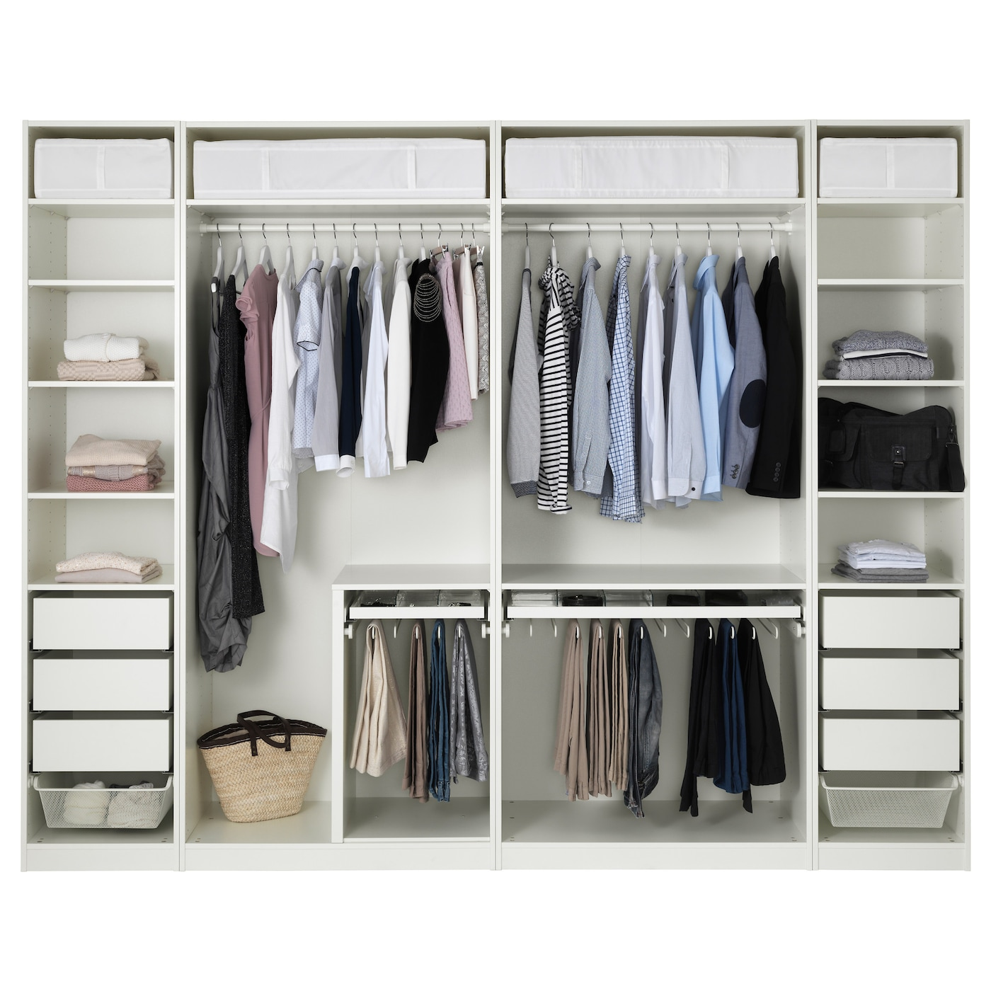 pax wardrobe white 300 x 58 x 236 cm ikea. Black Bedroom Furniture Sets. Home Design Ideas