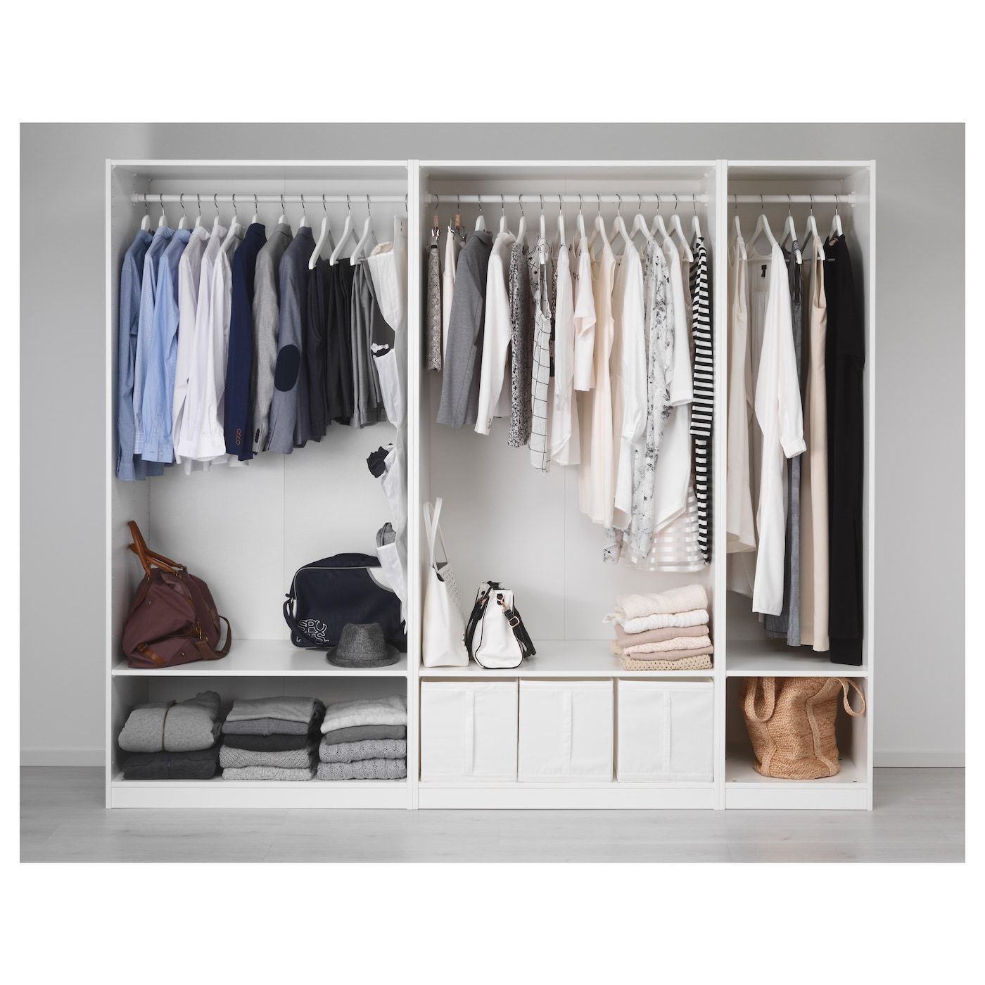 pax wardrobe white 250x58x201 cm ikea. Black Bedroom Furniture Sets. Home Design Ideas