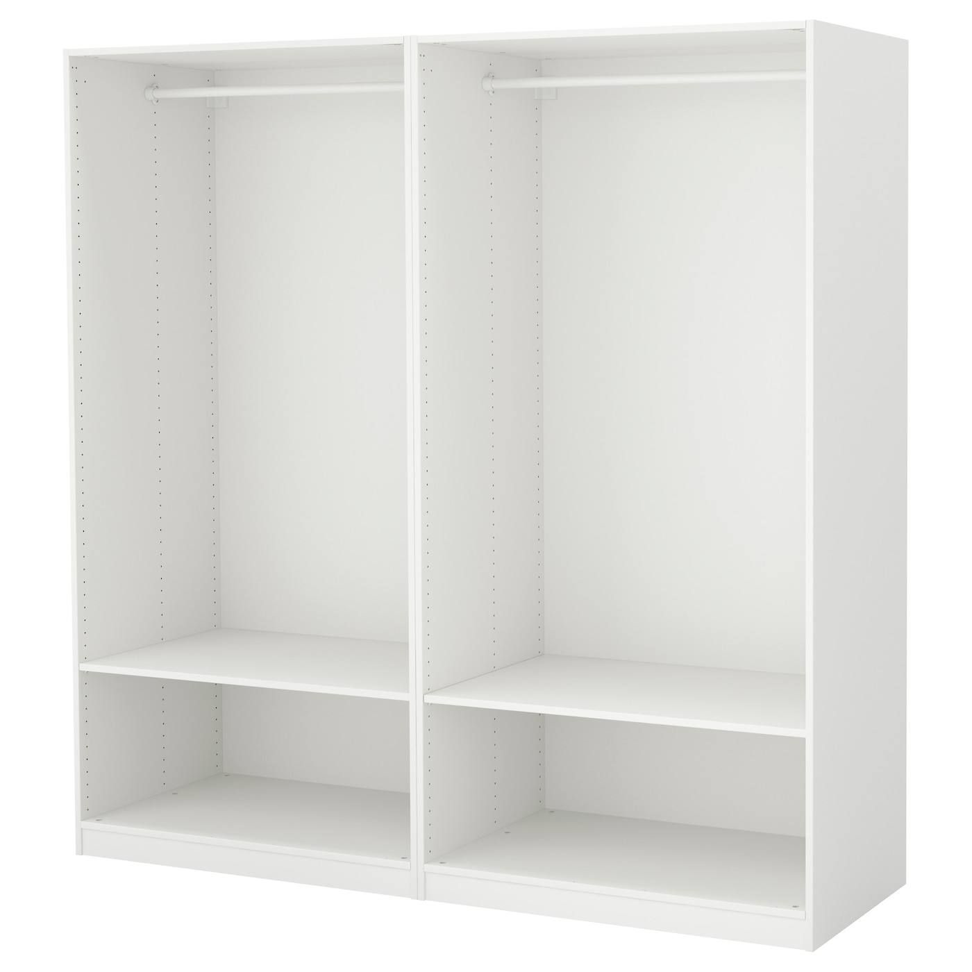 pax wardrobe white 200x58x201 cm ikea. Black Bedroom Furniture Sets. Home Design Ideas