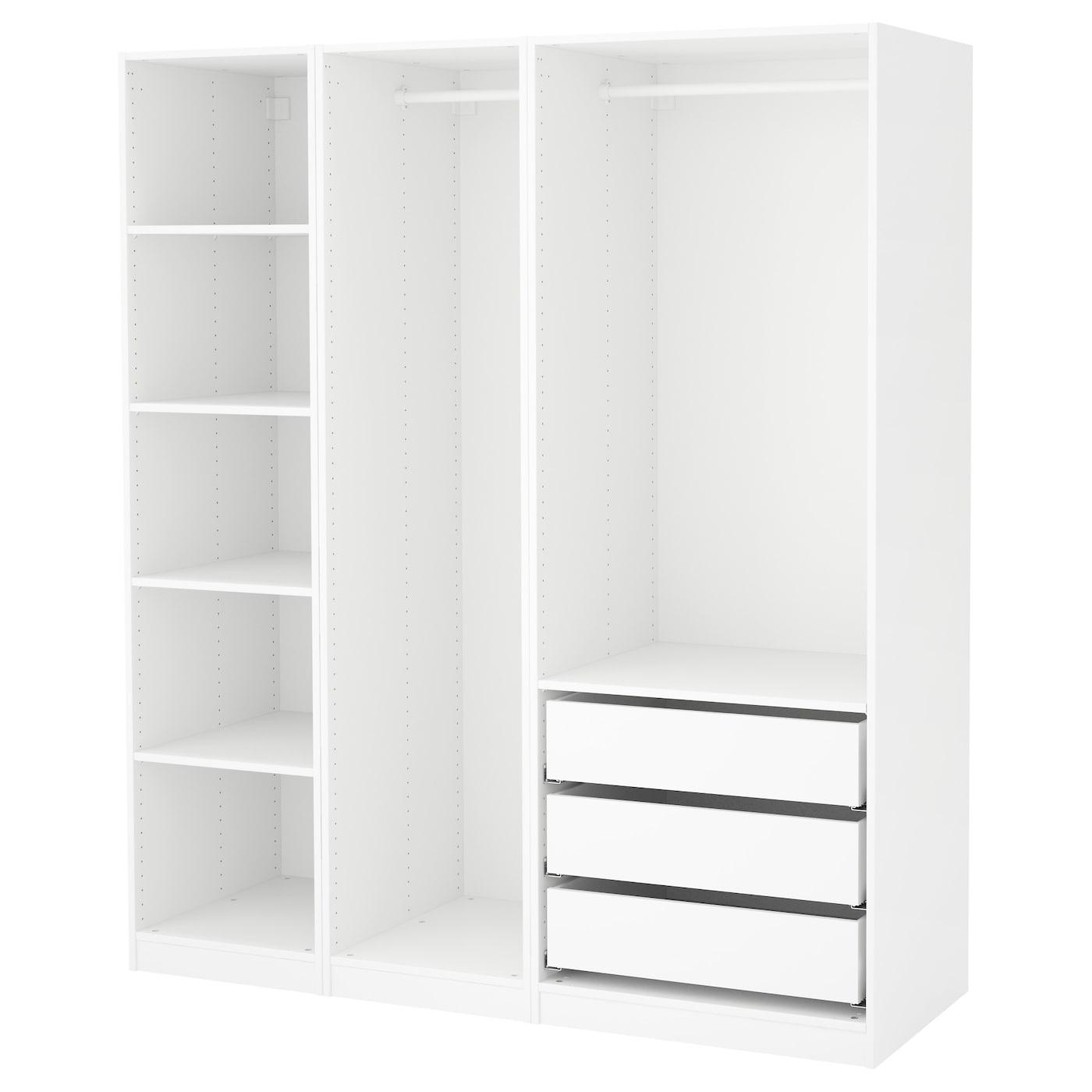 Pax wardrobe white 175x58x201 cm ikea - White armoire ikea ...