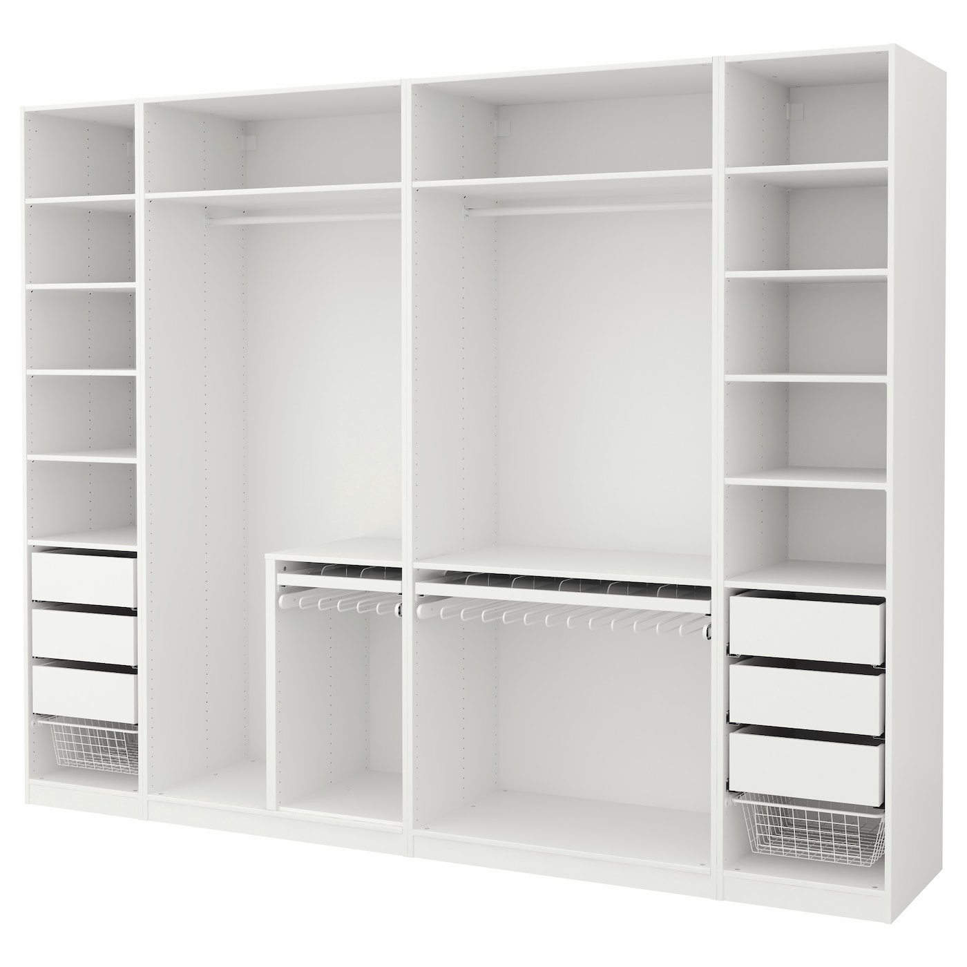 pax wardrobe white 300x58x236 cm ikea. Black Bedroom Furniture Sets. Home Design Ideas