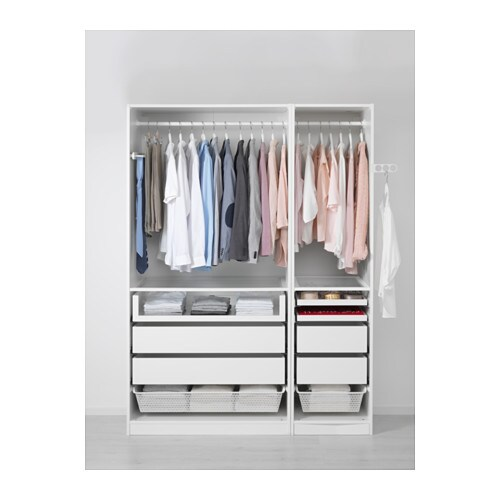 pax wardrobe white 150x58x201 cm ikea. Black Bedroom Furniture Sets. Home Design Ideas
