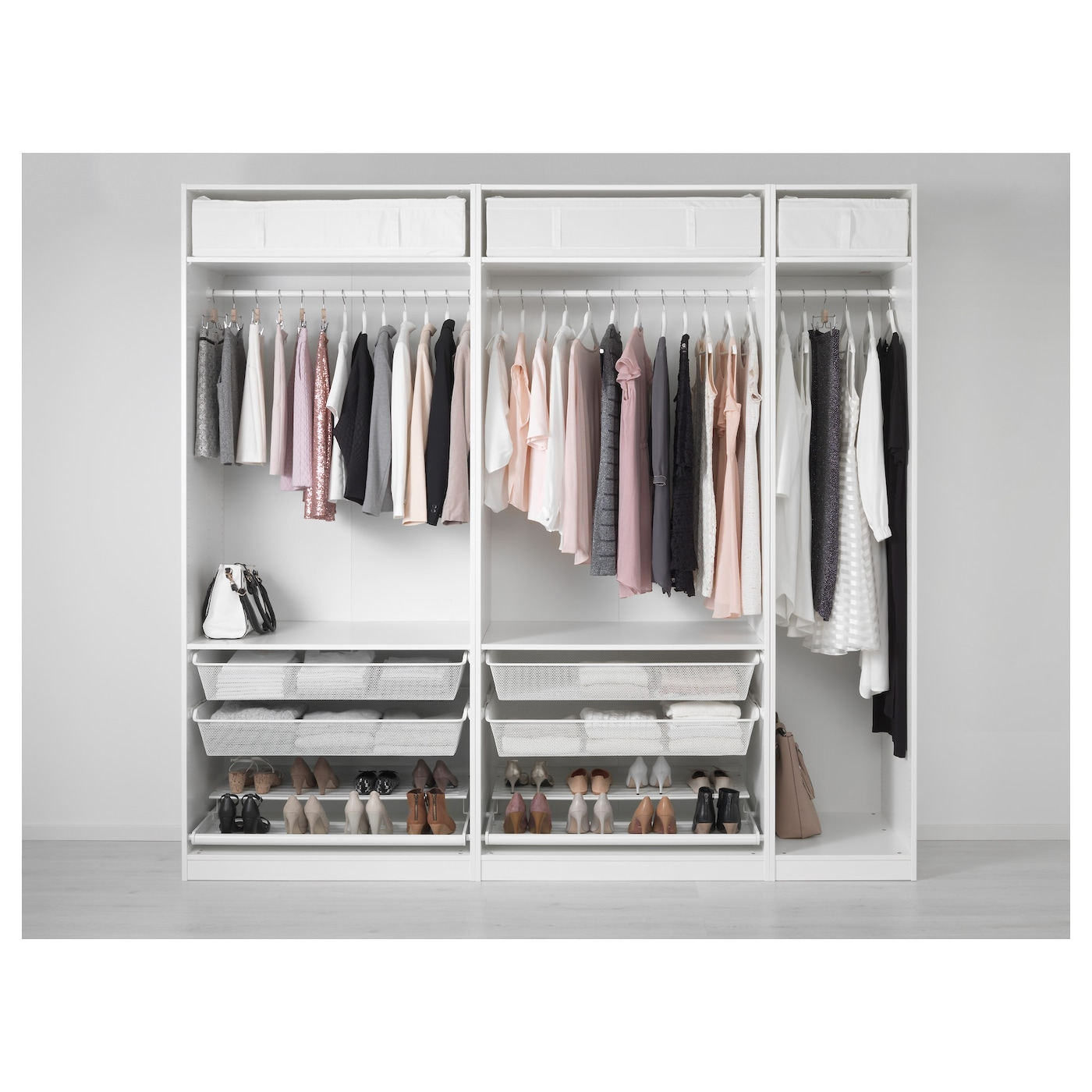 pax wardrobe white 250 x 58 x 236 cm ikea. Black Bedroom Furniture Sets. Home Design Ideas
