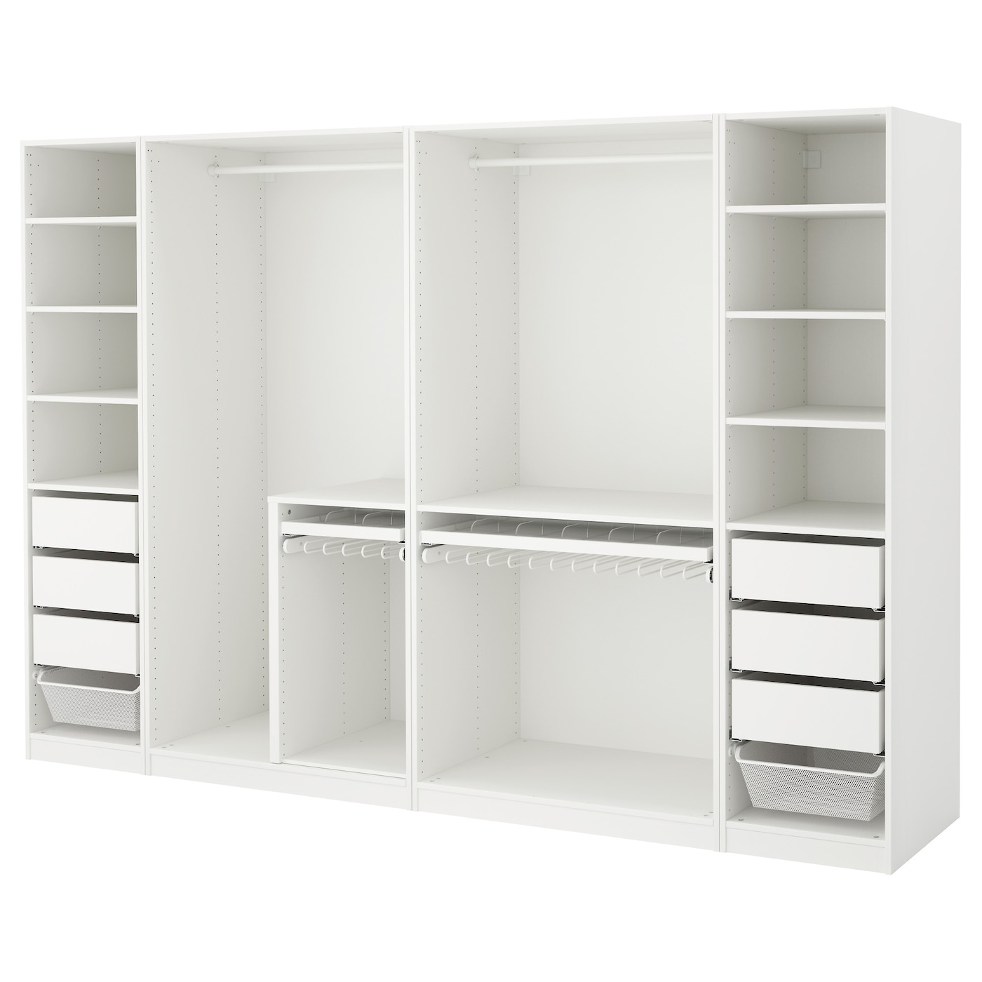 pax wardrobe white 300 x 58 x 201 cm ikea. Black Bedroom Furniture Sets. Home Design Ideas
