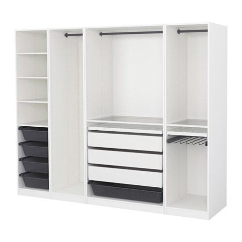 Pax Wardrobe White 250x58x201 Cm Ikea