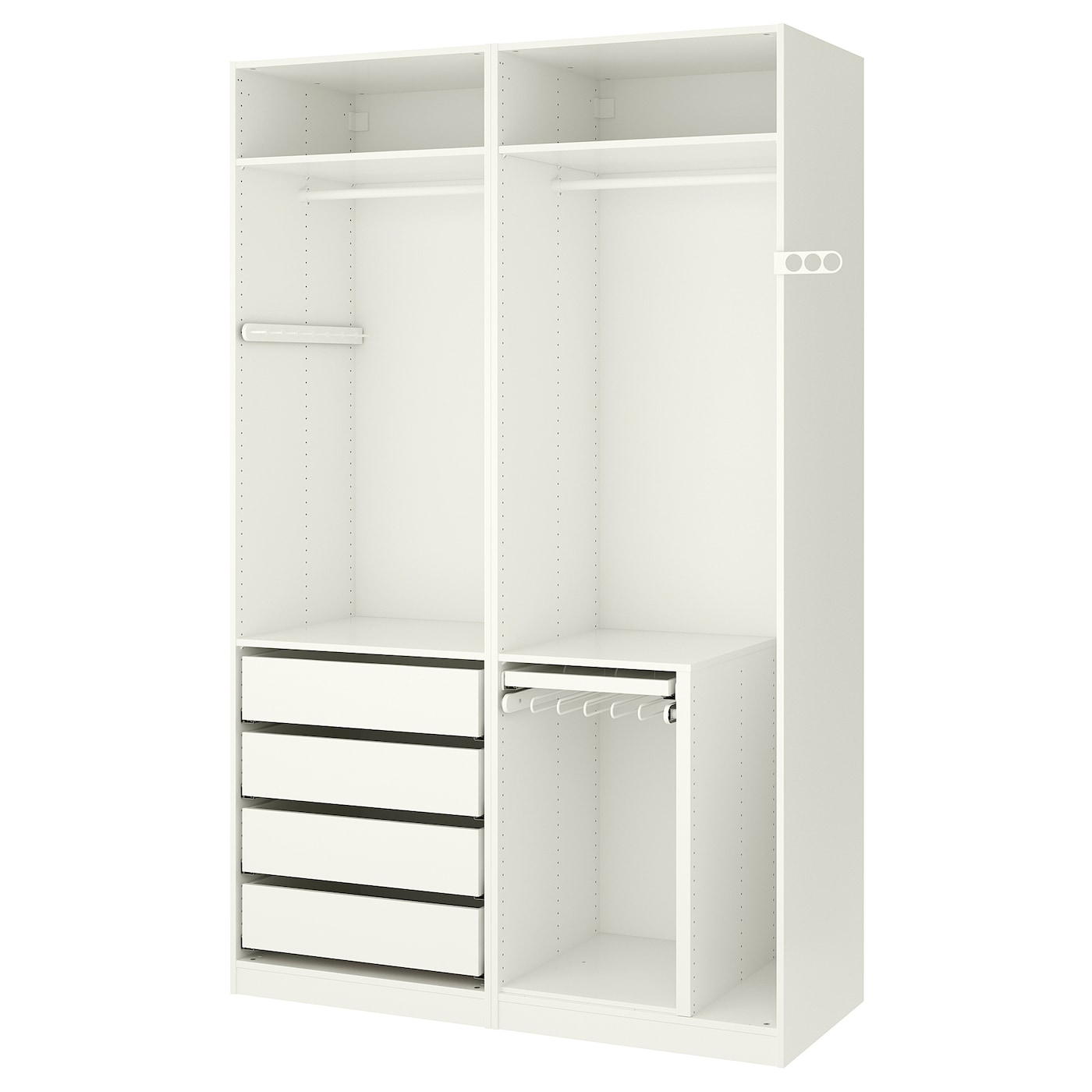 pax wardrobe white 150 x 58 x 236 cm ikea. Black Bedroom Furniture Sets. Home Design Ideas