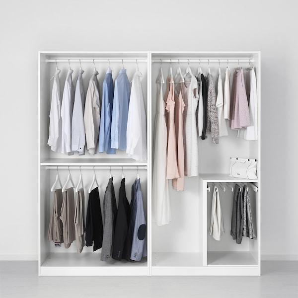 PAX wardrobe white 200.0 cm 58.0 cm 201.2 cm