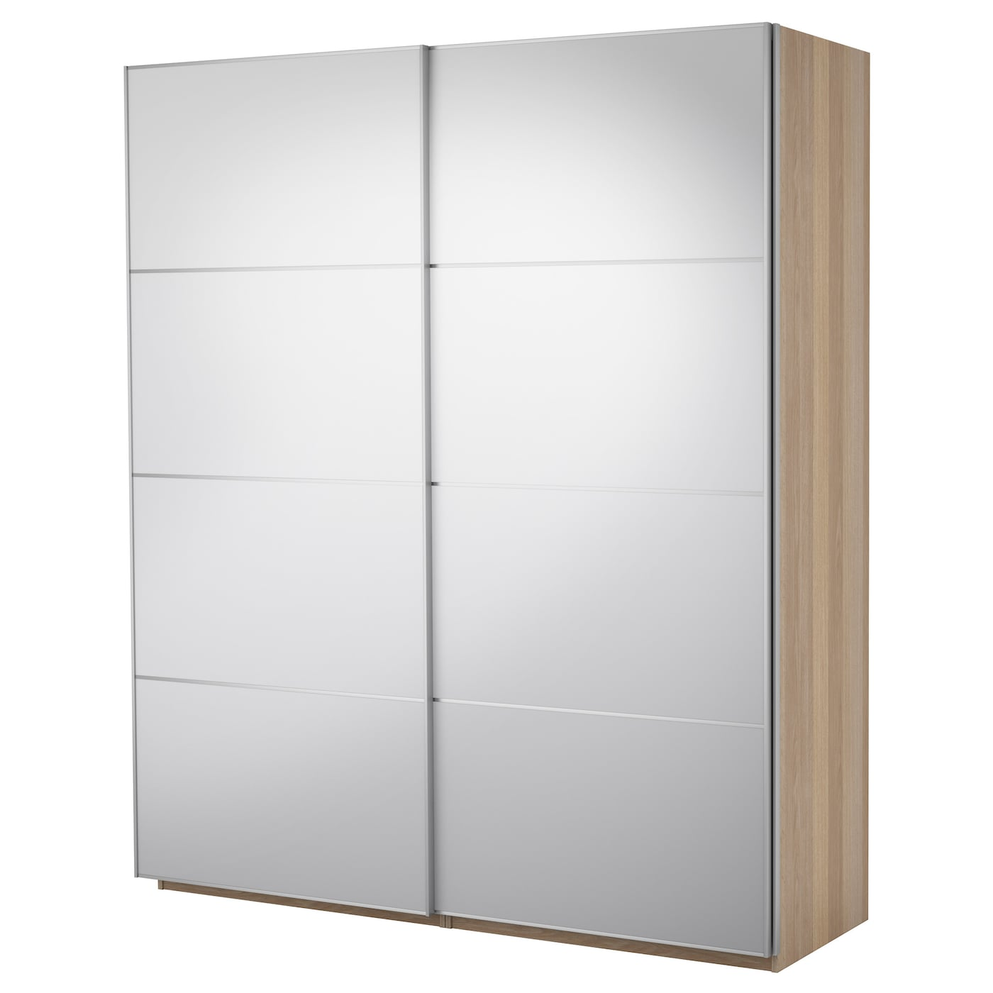 pax wardrobe with sliding doors white stained oak effect. Black Bedroom Furniture Sets. Home Design Ideas