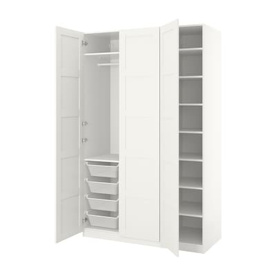 PAX wardrobe white/Bergsbo white 150.0 cm 60.0 cm 236.4 cm