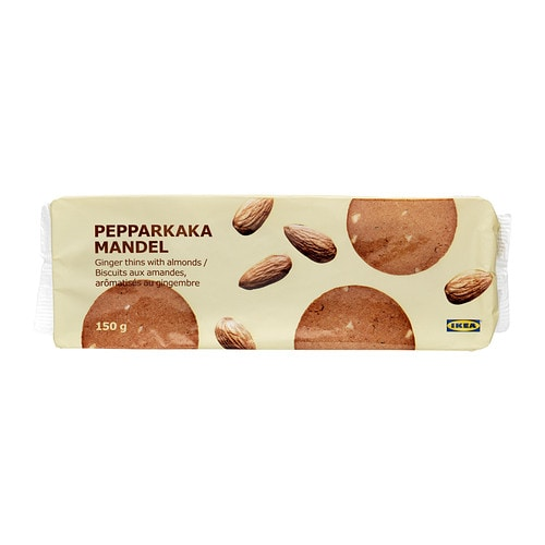 PEPPARKAKA MANDEL Ginger thins with almond IKEA A traditional Swedish Christmas cookie.   Today eaten all year round.