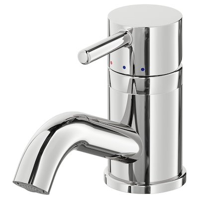 PILKÅN Wash-basin mixer tap with strainer, chrome-plated