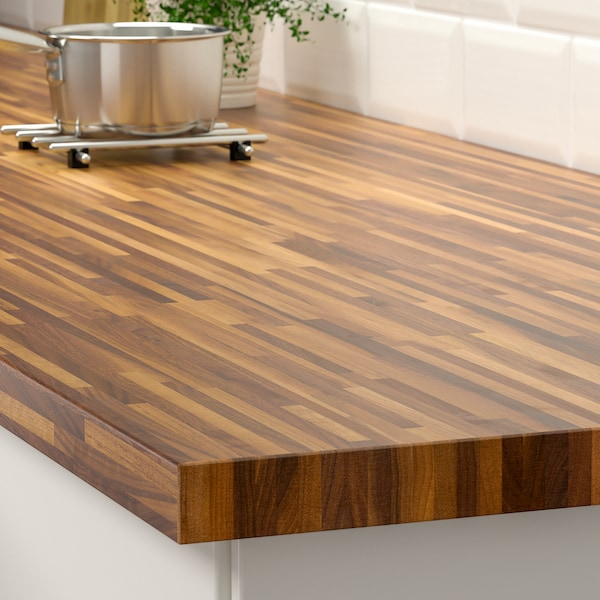 PINNARP Worktop, walnut/veneer, 246x3.8 cm