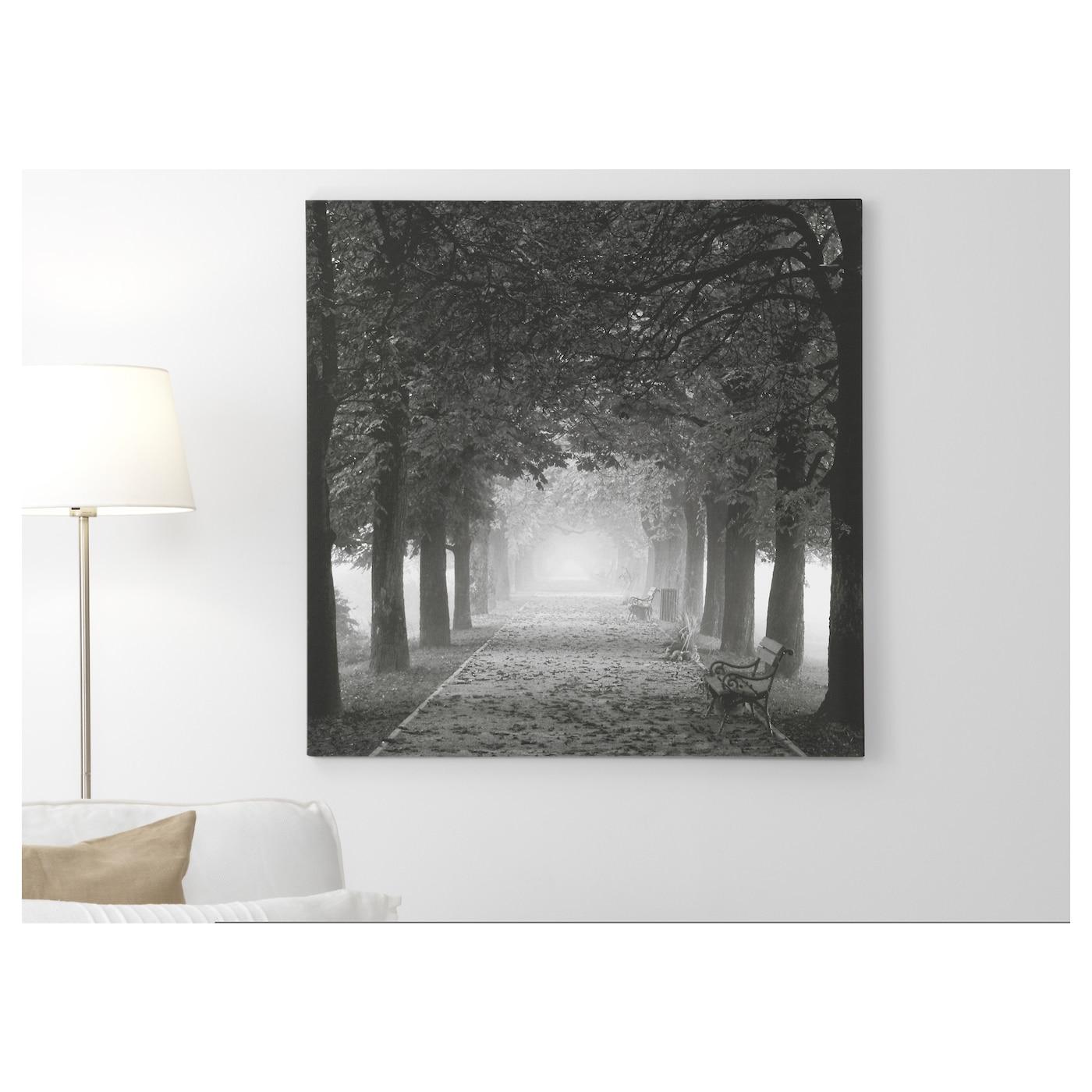 Pj Tteryd Picture Misty Path 90×90 Cm Ikea
