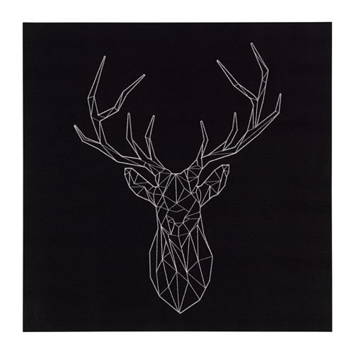 PJTTERYD Picture Silver Deer 56x56 Cm IKEA