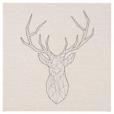 PJÄTTERYD Picture, Black deer, 56x56 cm