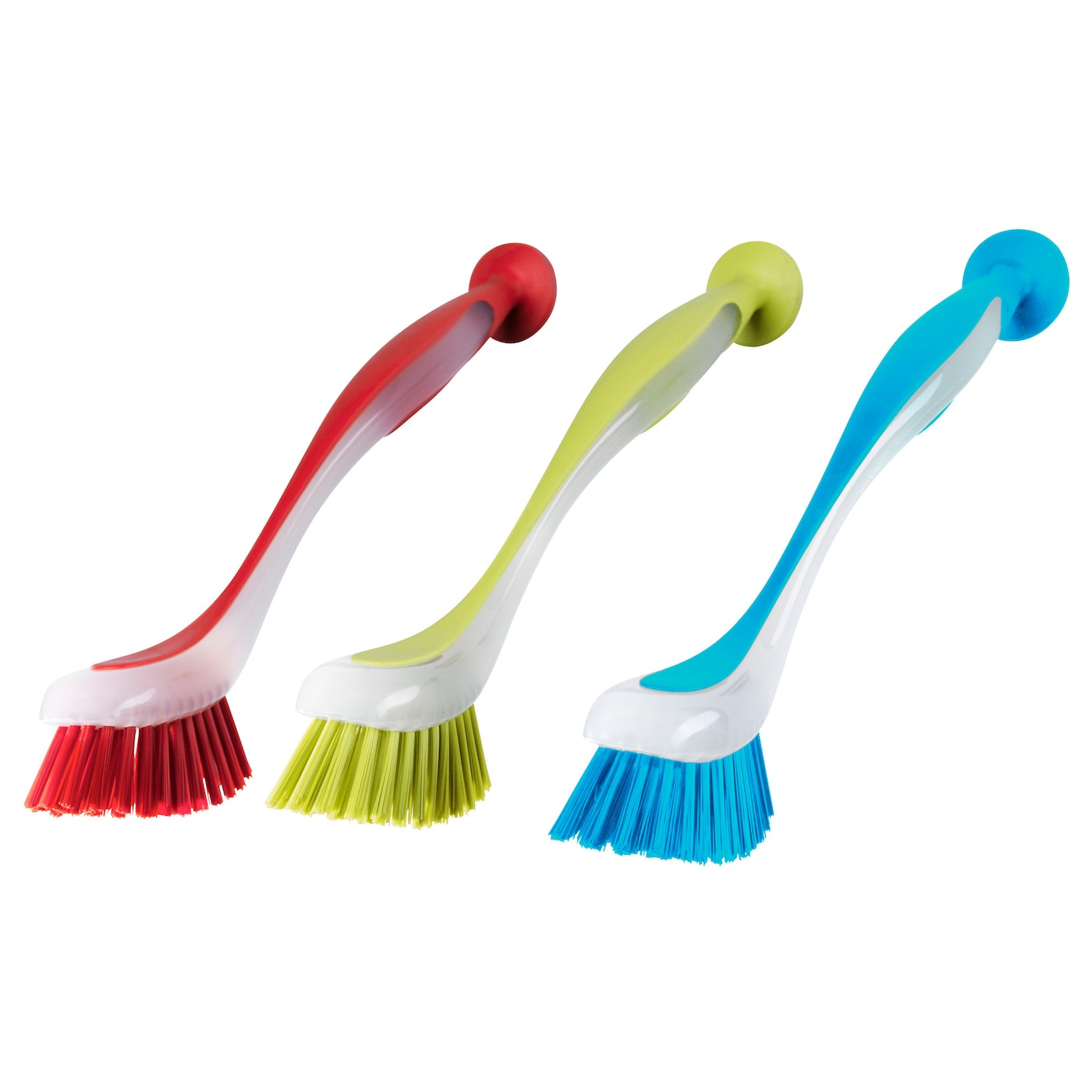 IKEA PLASTIS dish-washing brush Sticks to sinks, tiles etc., thanks to the suction cup.