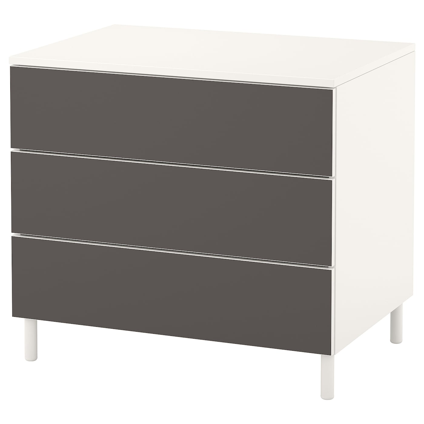 IKEA PLATSA chest of 3 drawers Smooth running drawers with pull-out stop.